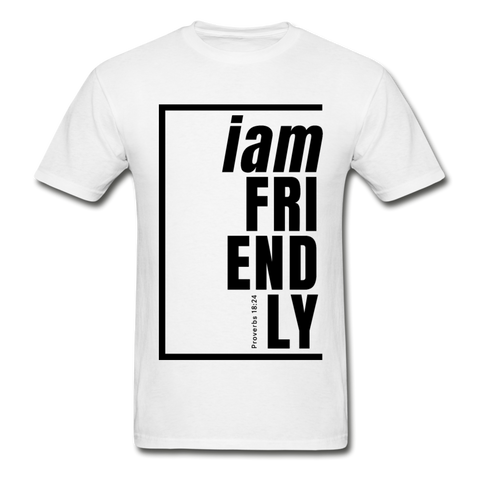 Friendly, i am / Men's Tagless T-Shirt / Black - white