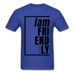 Friendly, i am / Men's Tagless T-Shirt / Black - royal blue