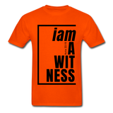 Witness, i am a / Men's Tagless T-Shirt / Black - orange