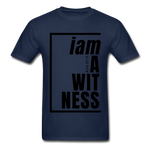 Witness, i am a / Men's Tagless T-Shirt / Black - navy