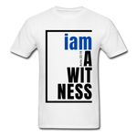 Witness, i am a / Men's Tagless T-Shirt / Blue & Black - white