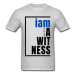 Witness, i am a / Men's Tagless T-Shirt / Blue & Black - heather gray