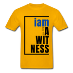 Witness, i am a / Men's Tagless T-Shirt / Blue & Black - gold
