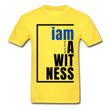 Witness, i am a / Men's Tagless T-Shirt / Blue & Black - yellow