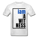 Witness, i am a / Men's Tagless T-Shirt / Blue & Black - light heather gray