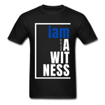 Witness, i am a / Men's Tagless T-Shirt / Blue & White - black