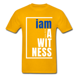 Witness, i am a / Men's Tagless T-Shirt / Blue & White - gold