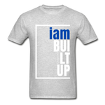 Built Up, i am / Men's Tagless T-Shirt / Blue & White - heather gray