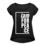 Peace, i am for / Women's Tennis Tail Tee / White - black