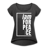 Peace, i am for / Women's Tennis Tail Tee / White - heather black
