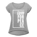 Peace, i am for / Women's Tennis Tail Tee / White - heather gray