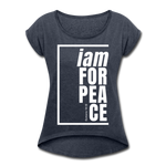 Peace, i am for / Women's Tennis Tail Tee / White - navy heather