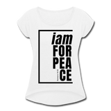 Peace, i am for / Women's Tennis Tail Tee / Black - white