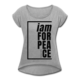 Peace, i am for / Women's Tennis Tail Tee / Black - heather gray