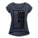 Peace, i am for / Women's Tennis Tail Tee / Black - navy heather