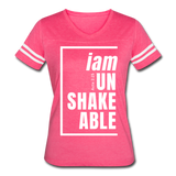 Unshakeable, i am / Women's Vintage Sport / White - vintage pink/white