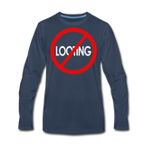 No Looting Premium LS/MenRBlkC - navy