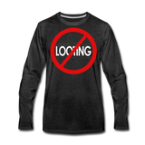 No Looting Premium LS/MenRBlkC - charcoal gray