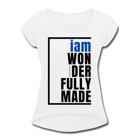 Wonderfully Made, i am Tennis Tail/WomBluBlk - white