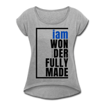Wonderfully Made, i am Tennis Tail/WomBluBlk - heather gray