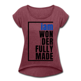 Wonderfully Made, i am Tennis Tail/WomBluBlk - heather burgundy