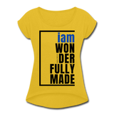 Wonderfully Made, i am Tennis Tail/WomBluBlk - mustard yellow