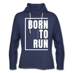 Born to Run Frayed Light Hoodie/UniW - heather navy