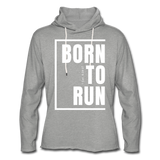 Born to Run Frayed Light Hoodie/UniW - heather gray