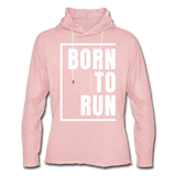 Born to Run Frayed Light Hoodie/UniW - cream heather pink