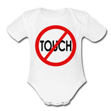 Don't Touch Organic Baby Onsie/RBlkC - white