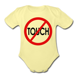 Don't Touch Organic Baby Onsie/RBlkC - washed yellow