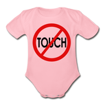 Don't Touch Organic Baby Onsie/RBlkC - light pink