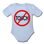 Don't Touch Organic Baby Onsie/RBlkC - sky
