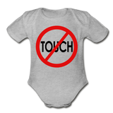 Don't Touch Organic Baby Onsie/RBlkC - heather gray