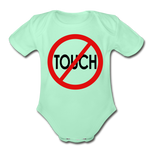 Don't Touch Organic Baby Onsie/RBlkC - light mint