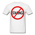 No Staring Tagless/MenRBlkC - white
