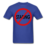 No Staring Tagless/MenRBlkC - royal blue