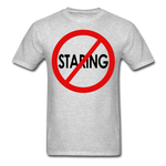 No Staring Tagless/MenRBlkC - heather gray