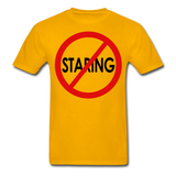 No Staring Tagless/MenRBlkC - gold
