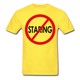 No Staring Tagless/MenRBlkC - yellow