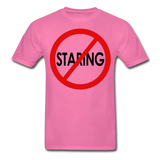 No Staring Tagless/MenRBlkC - hot pink