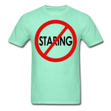No Staring Tagless/MenRBlkC - deep mint