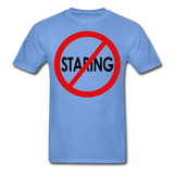 No Staring Tagless/MenRBlkC - carolina blue