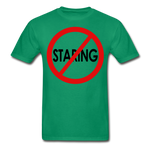 No Staring Tagless/MenRBlkC - kelly green