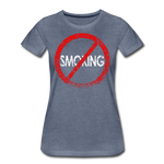 No Smoking / Wom. Perfectly Basic RBlkD - heather blue