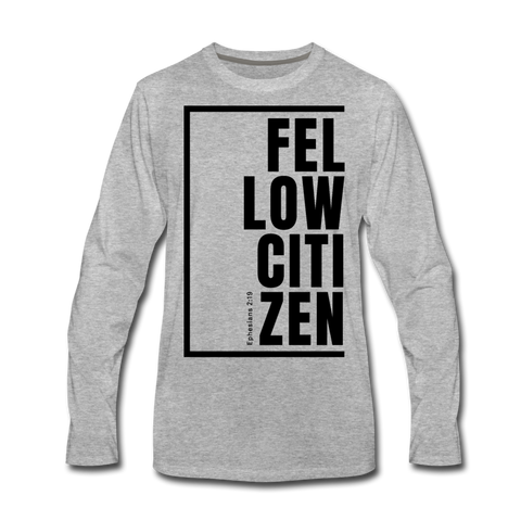 Fellow Citizen / Men Premium LS B - heather gray