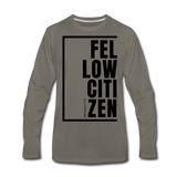 Fellow Citizen / Men Premium LS B - asphalt gray