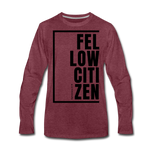 Fellow Citizen / Men Premium LS B - heather burgundy