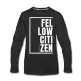 Fellow Citizen / Men Premium LS W - black