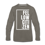 Fellow Citizen / Men Premium LS W - asphalt gray